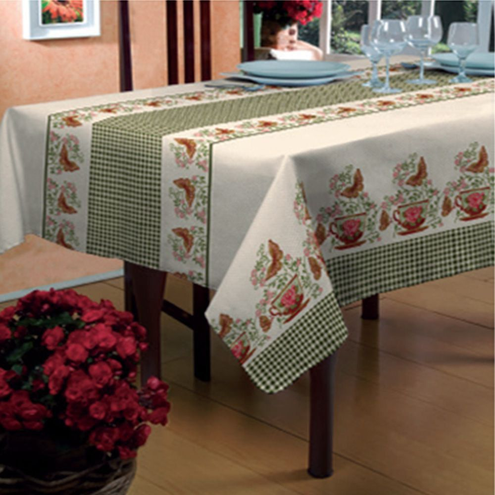 Toalha de mesa Bella Mesa 1,40m x 2,40m Borboletas - Raner
