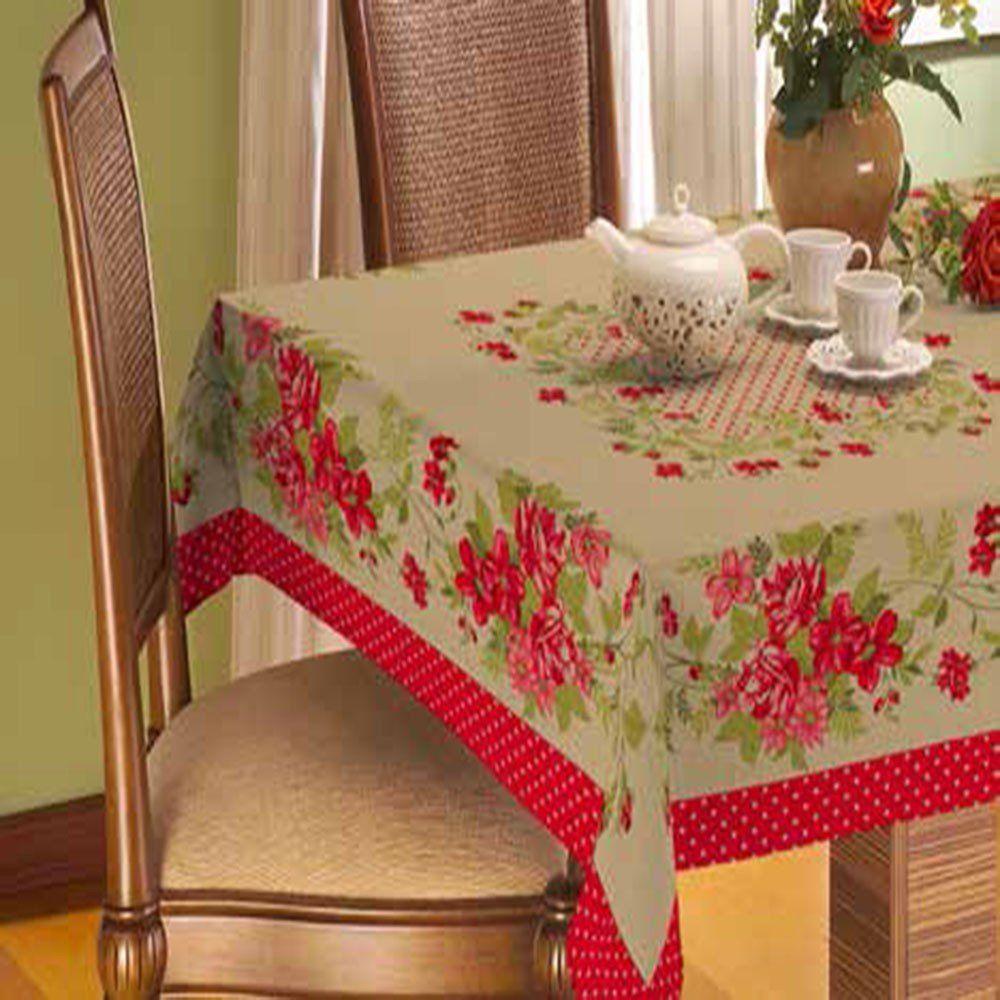 Toalha De Mesa Gourmet Rústica 1,40m x 1,40m Poá- Raner