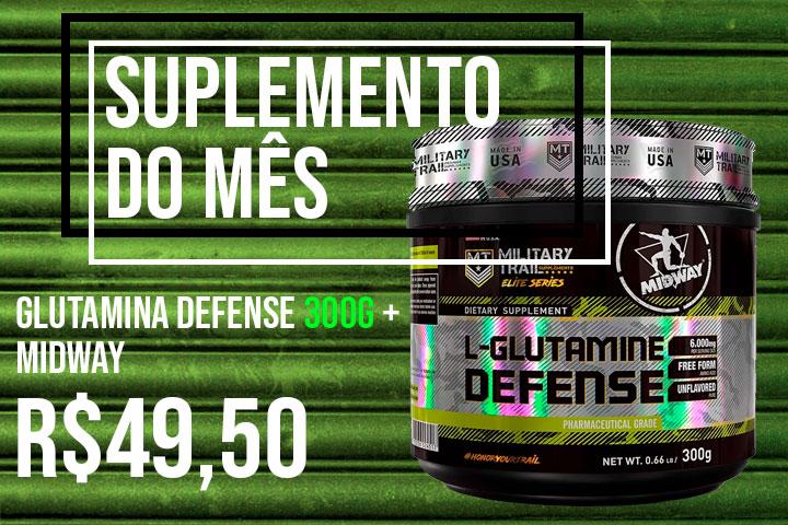 suplemento do mês - glutamina 300g midway