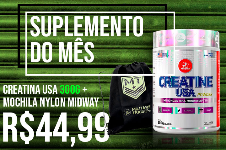 suplemento do mês -Creatina USA 300g midway