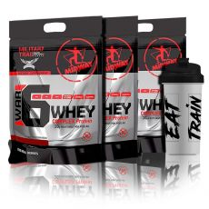Combo 3x War 6 Complex Protein 907g + Coqueteleira - Midway Military Trail