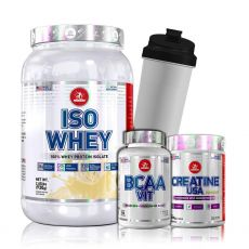Kit Isolado Whey USA 930g + Creatina + Bcaa - Midway