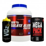 Kit Mega Pack 30 Packs + Squeeze VO2 - IntegralMedica + 100% Isolate Blend Protein 2kg - Giants Nutrition