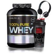Kit Pure Whey 2Kg + Coqueteleira + Fone - Probiotica
