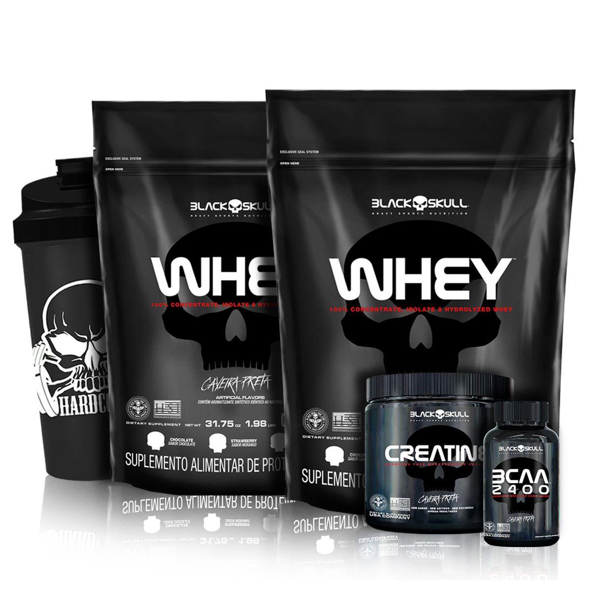 Kit 2x Whey Protein Refil 900g - Black Skull