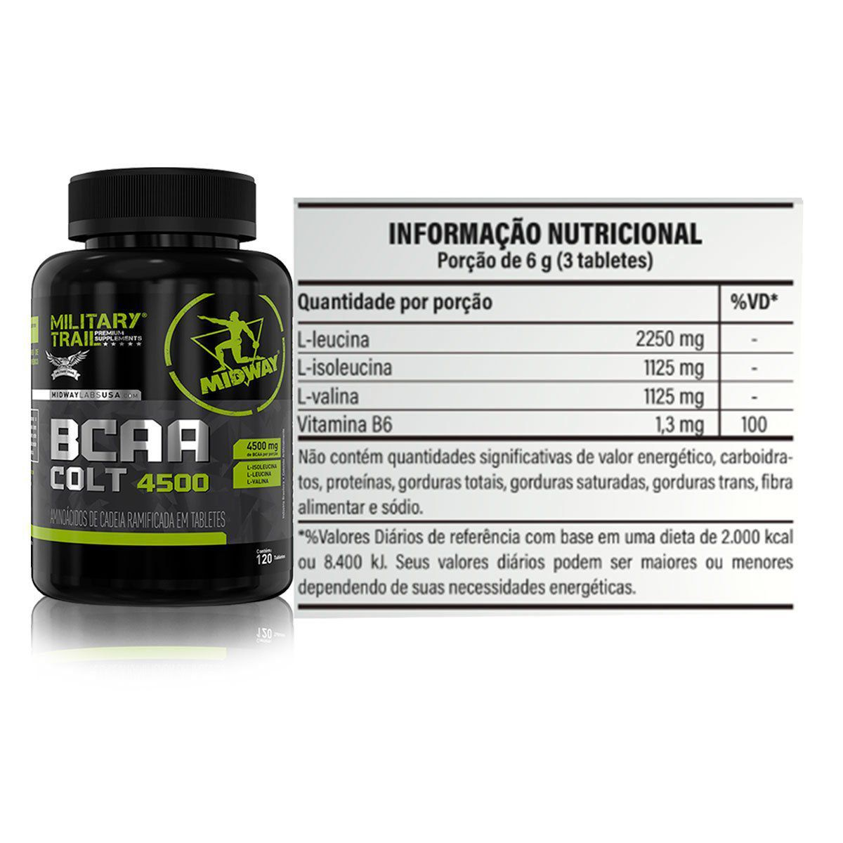 BCAA Colt Ultra Concentrado Military Trail 120 Caps - Midway