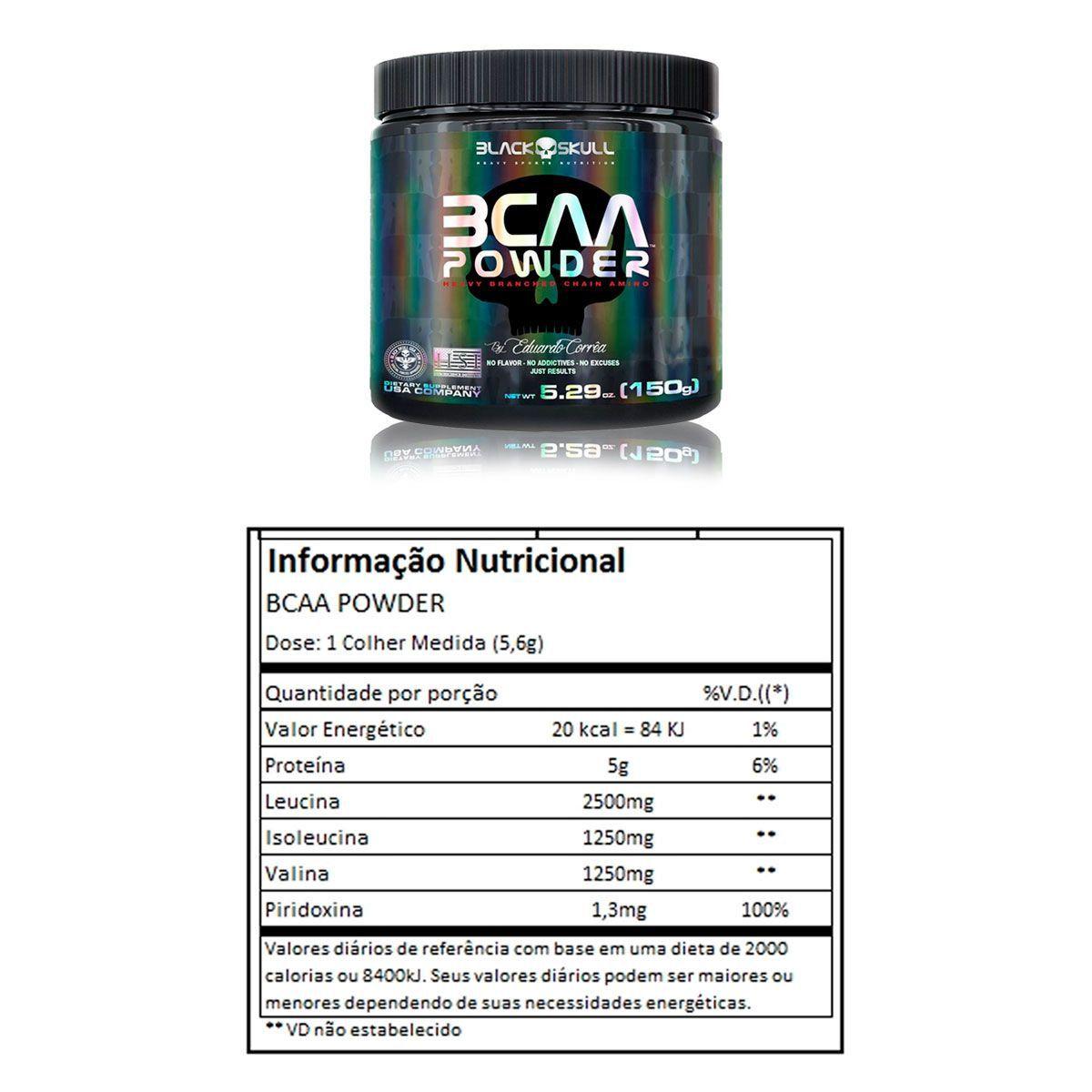 BCAA Powder 150g - Black Skull