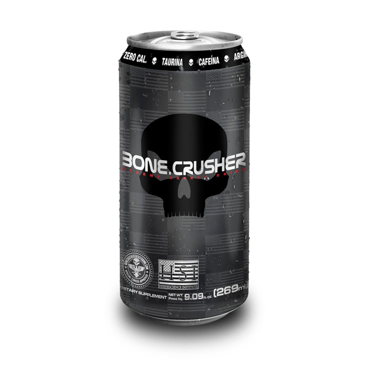 Bone Crusher Xtreme Energy Drink 269ml - Black Skull
