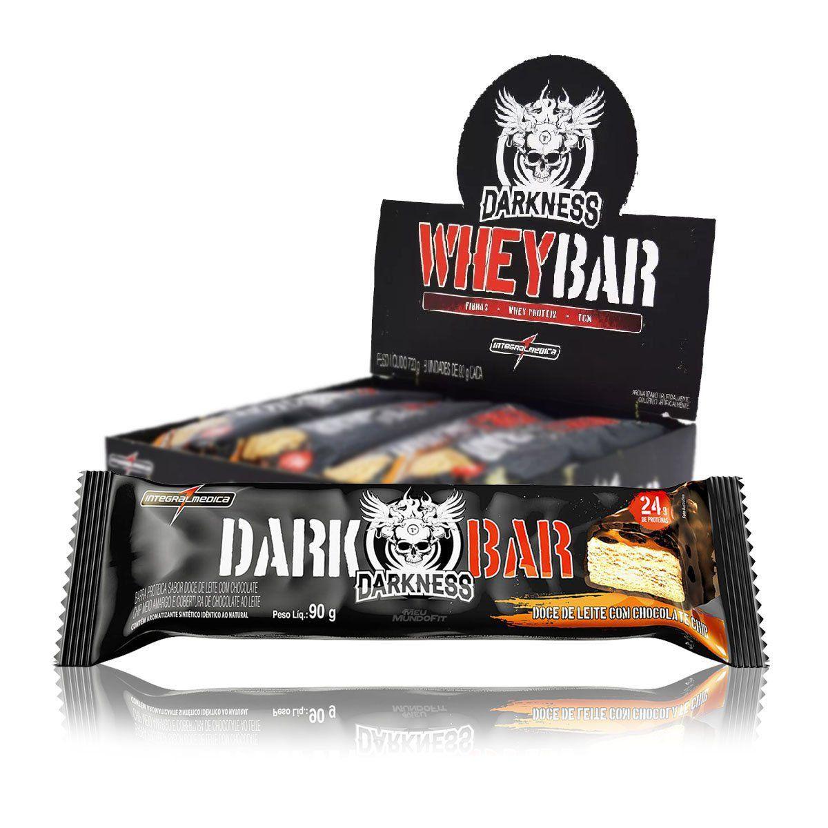 Caixa Whey Bar Darkness 8 Unidades 90g - IntegralMedica