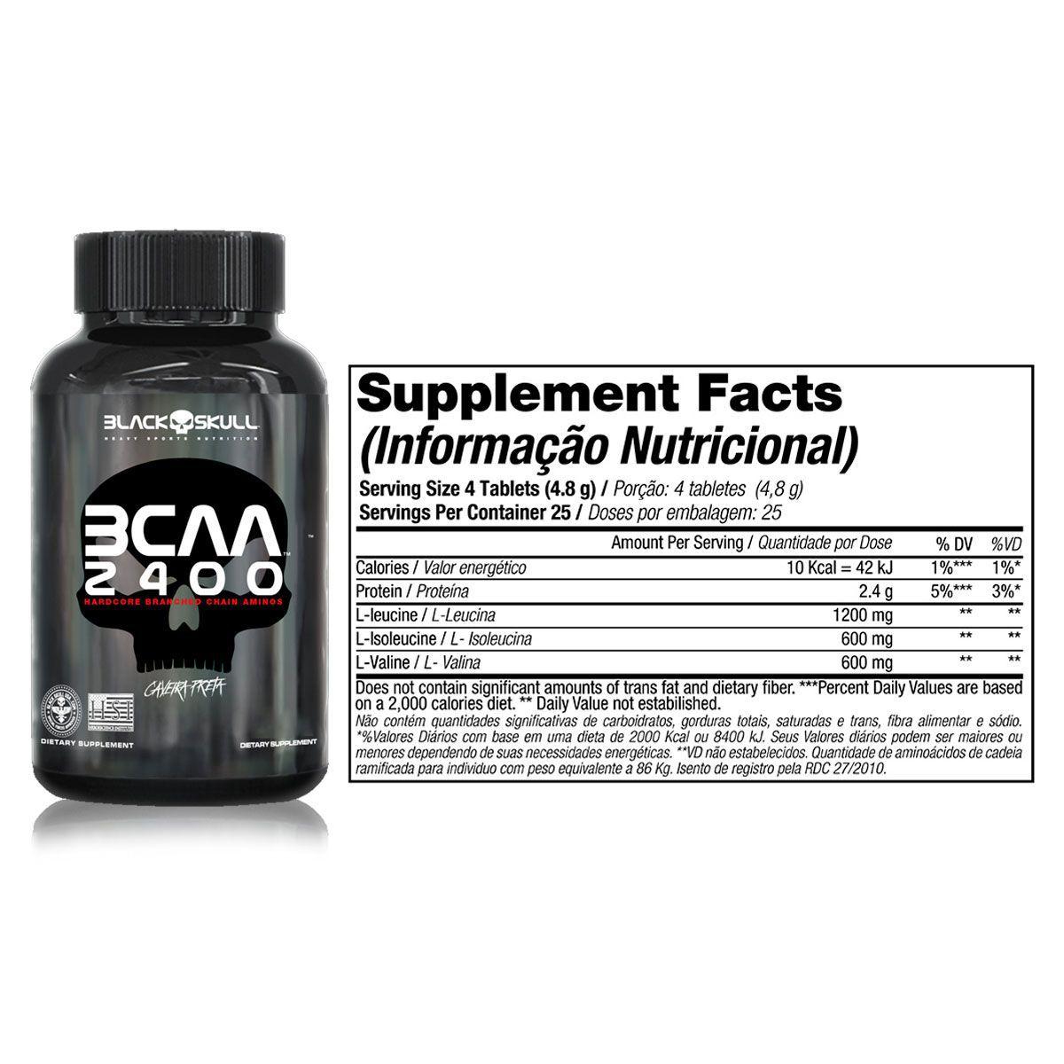 Combo 10x BCAA 2400 (30 Tabletes) - Black Skull
