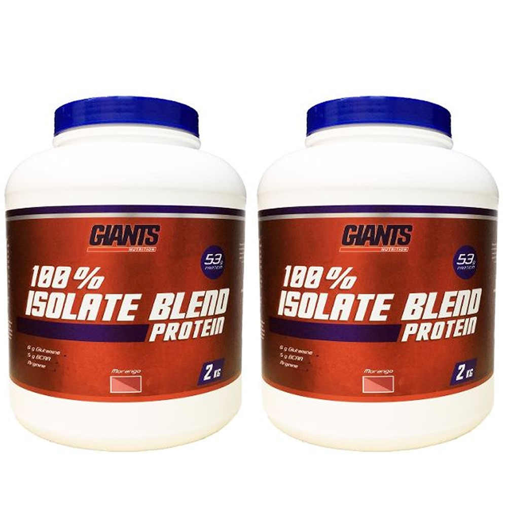 Combo 2x 100% Isolate Blend Protein 2kg - Giants Nutrition