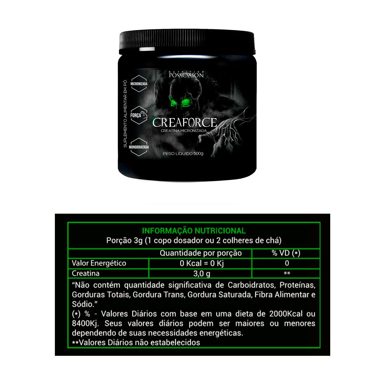 Creaforce Creatina Micronizada Monoidratada 300g - Possession Nutrition