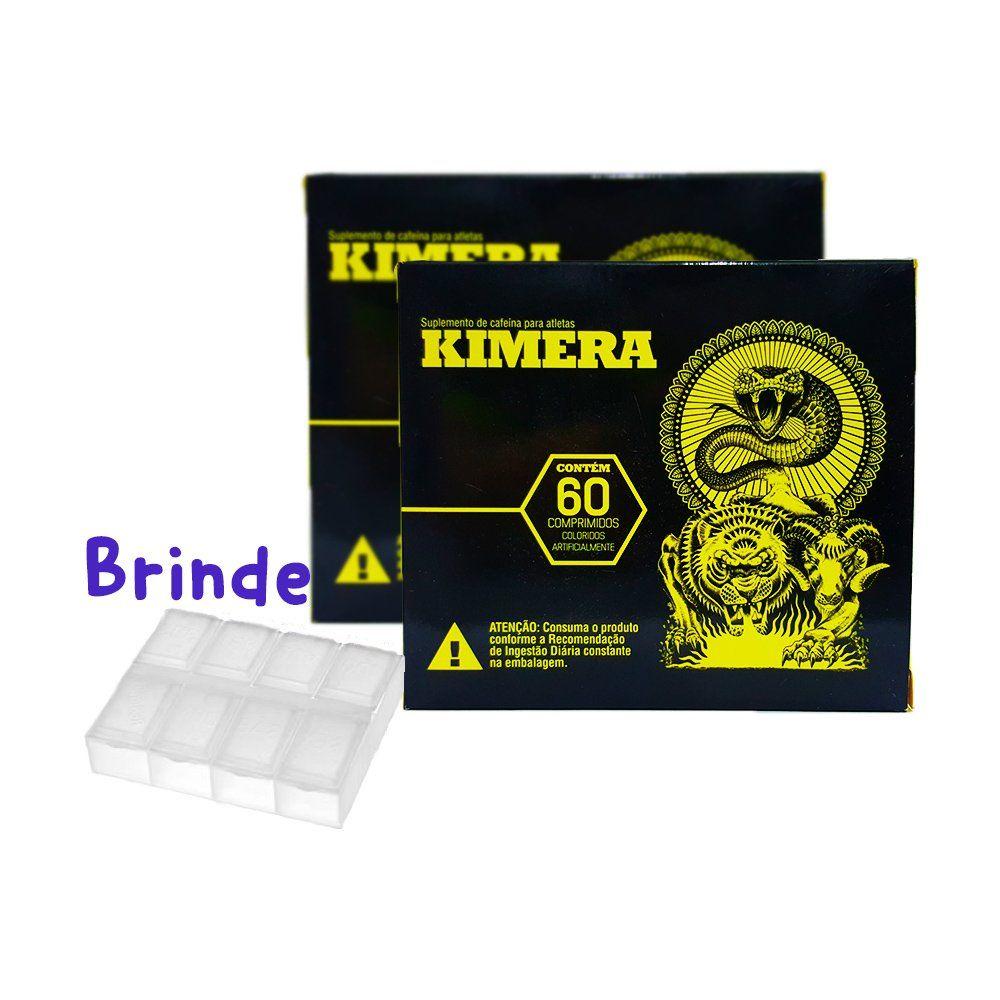 Kit 2x Termogênico Kimera 60 Comprimidos + Porta Cápsulas - Iridium Labs