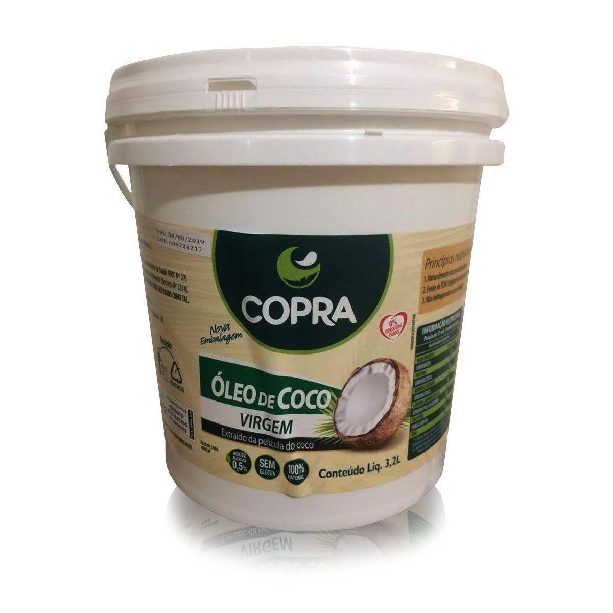 Oleo de Coco Virgem 3,2 Litros - Copra