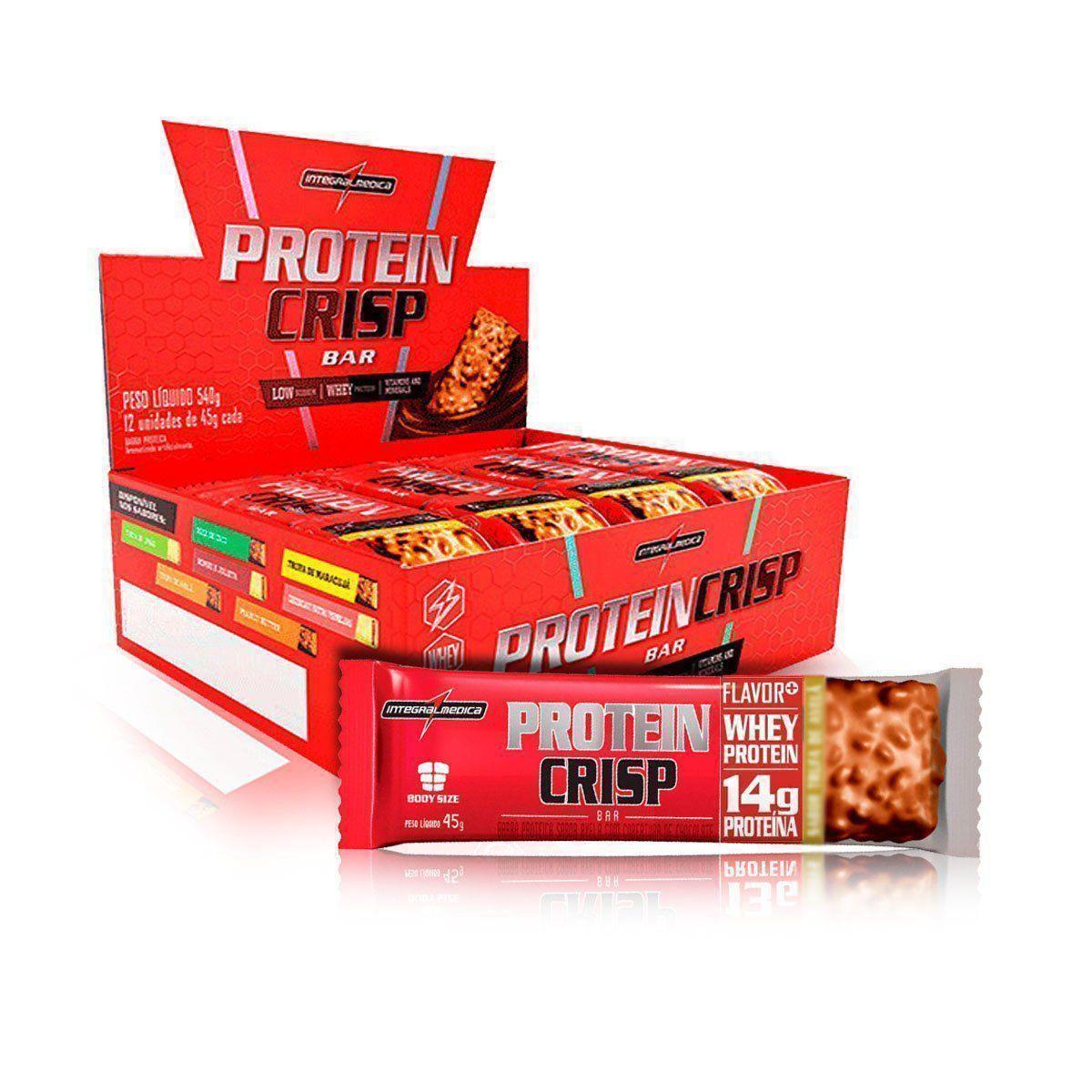 Protein Crisp Bar 12 Unidades 45g - IntegralMedica