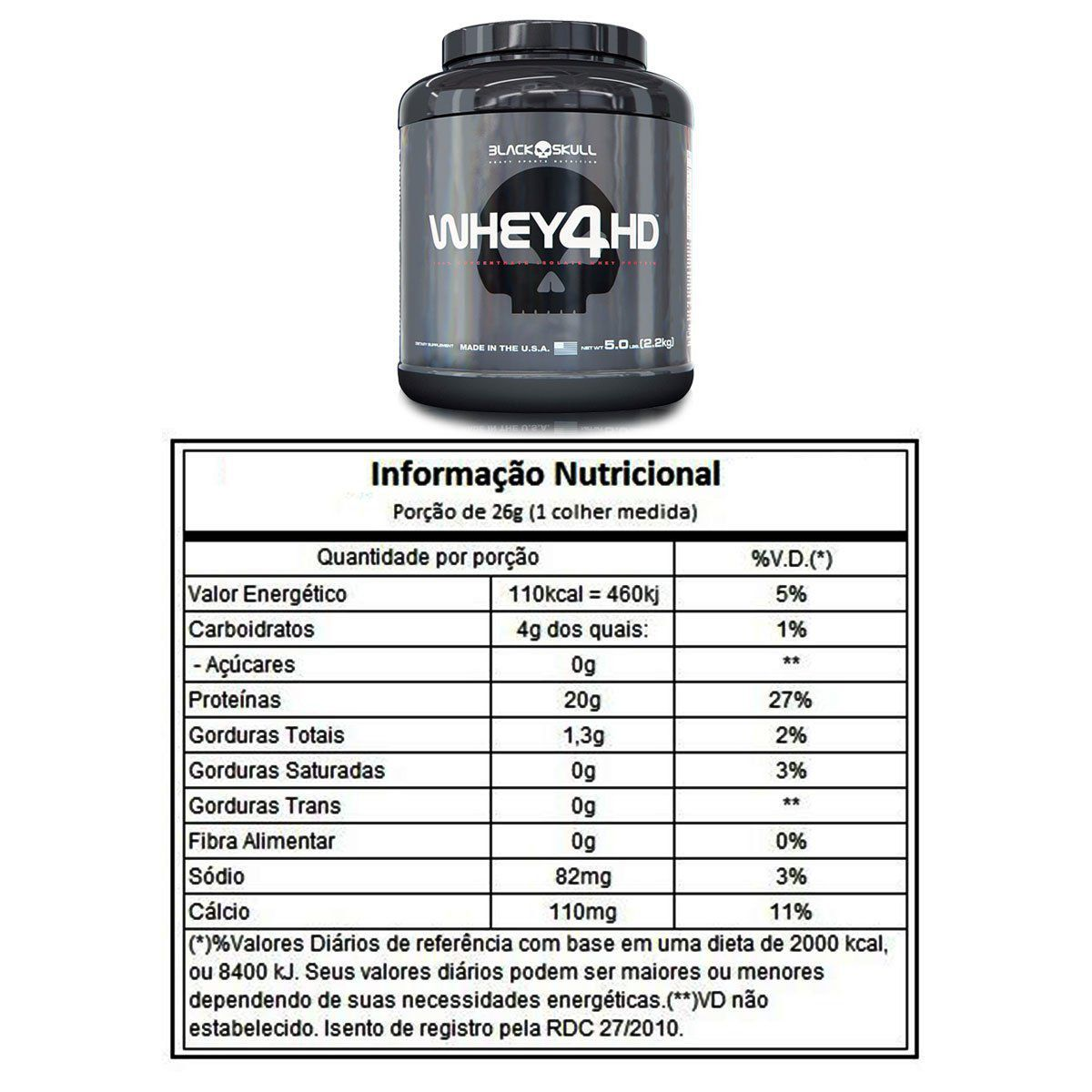 Whey 4HD 2,2Kg - Black Skull