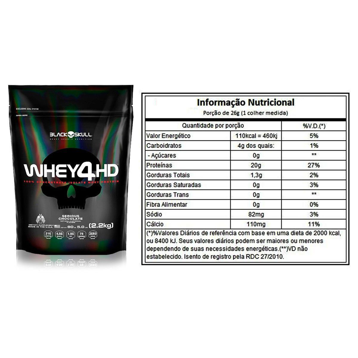 Whey 4HD Refil 2,2Kg - Black Skull