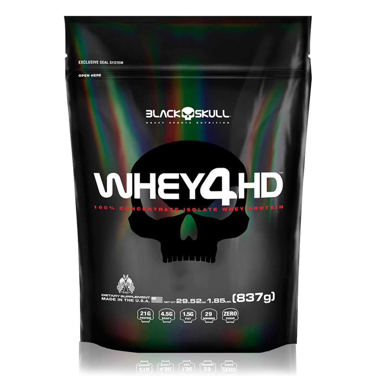 Whey 4HD Refil 837g - Black Skull