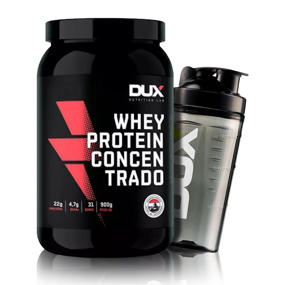 Whey Concentrado 900g + Coqueteleira - Dux Nutrition