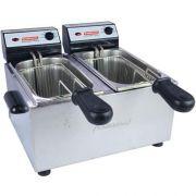 Fritadeira Elétrica 2 Cubas Inox 2x2L Cotherm 127V