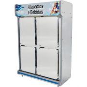 Geladeira Comercial 1,30m 4 Portas Inox - Polofrio
