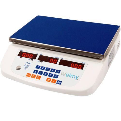 Balança Computadora Welmy C6 15Kg c/ Bateria INMETRO  - RW Automação