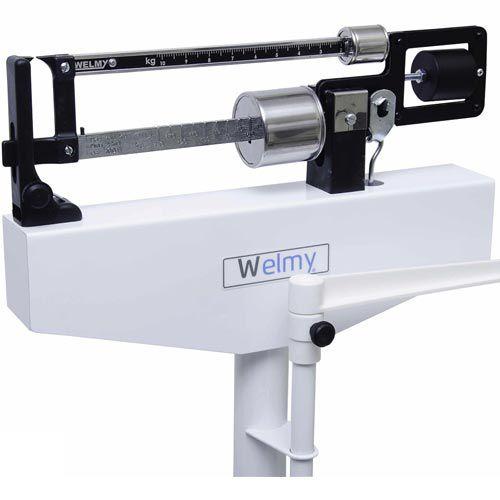 Balança Mecânica para Pesar Pessoas Welmy 110 CH 150Kg c/ Antropômetro INMETRO  - RW Automação