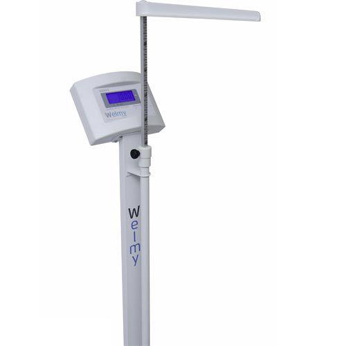 Balança para Pesar Pessoas Welmy W 200/50A 200Kg c/ Antropômetro Branca INMETRO  - RW Automação