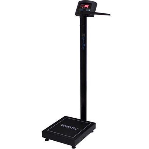 Balança para Pesar Pessoas Welmy W 200/50A 200Kg c/ Antropômetro Preta INMETRO  - RW Automação