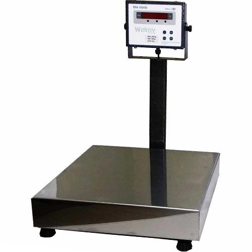 Balança Plataforma de Bancada Welmy WPL 50 50Kg INMETRO  - RW Automação