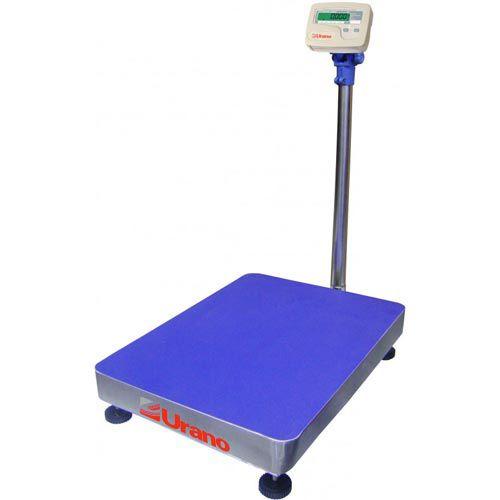 Balança Plataforma Urano UR 10000 Light 150/50 150Kg Inox c/ Bateria INMETRO  - RW Automação