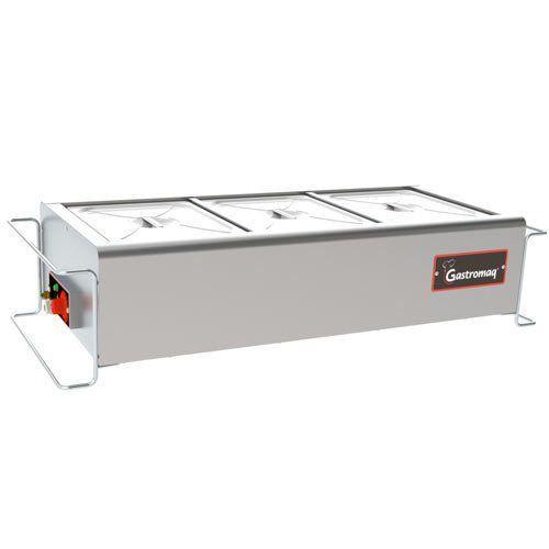Balcão Térmico 3 Cubas de Mesa Gastromaq Standard BTME-3 ST I Bivolt  - RW Automação