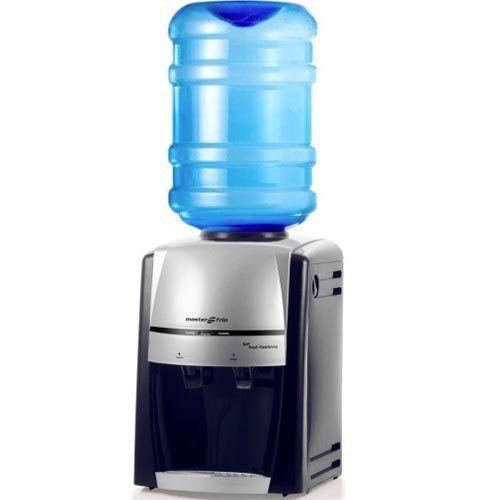 Bebedouro de Garrafão 1,7L Masterfrio New Fresh Eletrônico Preto/Prata Bivolt  - RW Automação