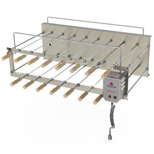 Churrasqueira Elétrica Dupla Rotativa 15 Espetos Inox Progás PRRC-150 Plus Bivolt  - RW Automação