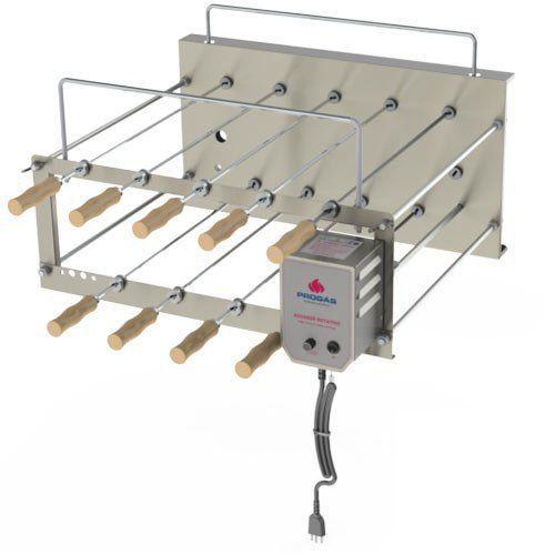 Churrasqueira Elétrica Dupla Rotativa 9 Espetos Inox Progás PRRC-90 Plus Bivolt  - RW Automação
