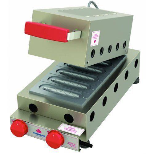 Crepeira a Gás p/ Crepe Suíço 6 Cavidades Progás PRK-60G Style  - RW Automação