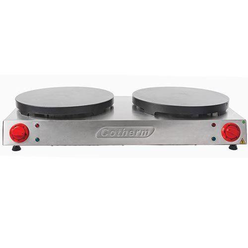 Crepeira Elétrica Dupla Antiaderente p/ Crepe Francês Cotherm 220V  - RW Automação