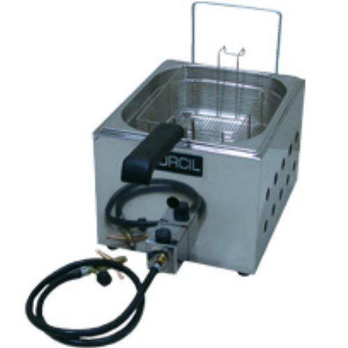 Fritadeira a Gás 1 Cuba Alta Pressão Inox 3L Orcil F1GAP  - RW Automação