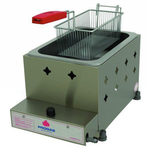 Fritadeira a Gás 1 Cuba Alta Pressão Inox 5L Progás PR-10G  - RW Automação