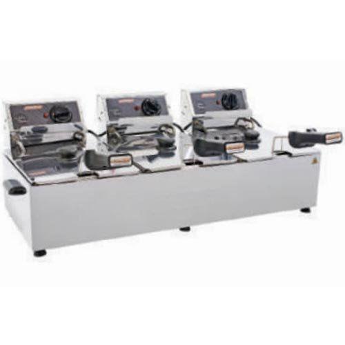 Fritadeira Elétrica 3 Cubas Inox 5L Cotherm Turbo 220V  - RW Automação