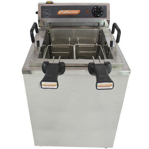 Fritadeira Elétrica Água e Óleo 1 Cuba 18L Inox Cotherm Turbo 220V  - RW Automação