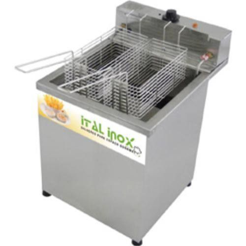 Fritadeira Elétrica Água e Óleo 1 Cuba Inox Ital Inox FAOCI-18M 220V  - RW Automação