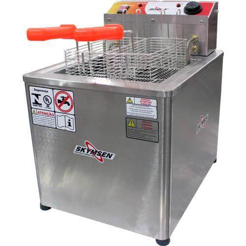 Fritadeira Elétrica Água e Óleo 1 Cuba Inox Skymsen FRM-18 220V  - RW Automação