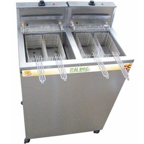 Fritadeira Elétrica Água e Óleo 2 Cubas Inox Ital Inox FAOI 18/18 220V  - RW Automação