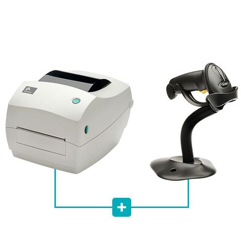 Kit Impressora GC420t + Leitor LS2208 c/ Suporte - Zebra  - RW Automação