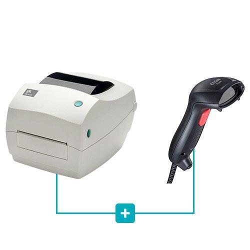Kit Impressora GC420t Zebra + Leitor Flash Elgin  - RW Automação