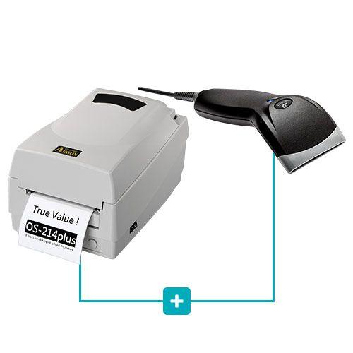 Kit Impressora OS-214 Plus Argox + Leitor BR-400 Bematech  - RW Automação