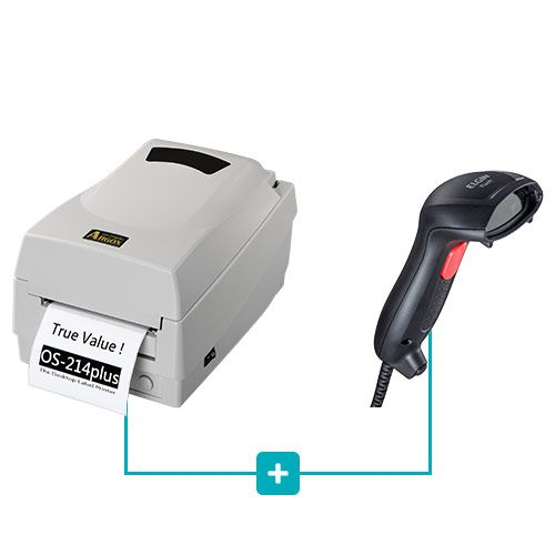 Kit Impressora OS-214 Plus Argox + Leitor Flash Elgin  - RW Automação