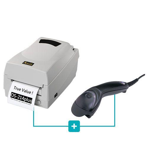 Kit Impressora OS-214 Plus Argox + Leitor MS5145 Honeywell  - RW Automação