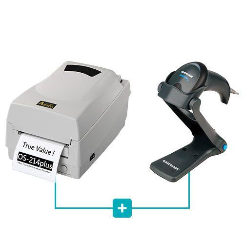 Kit Impressora OS-214 Plus Argox + Leitor QW2100 c/ Suporte Datalogic  - RW Automação